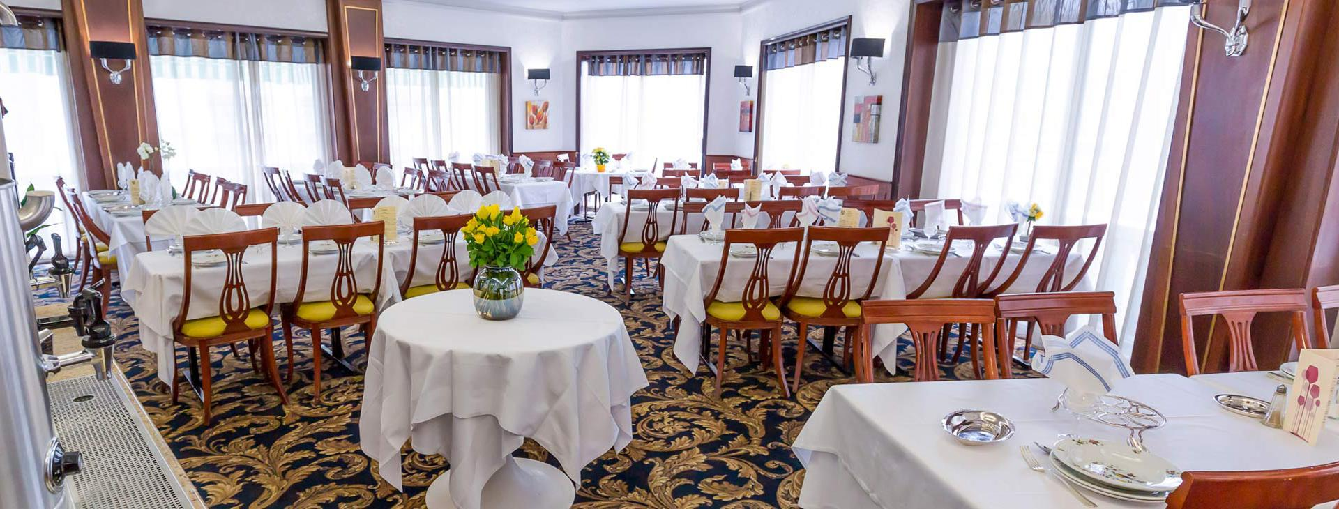 Hotel d'Irlande 3 étoiles Lourdes salle de restaurant