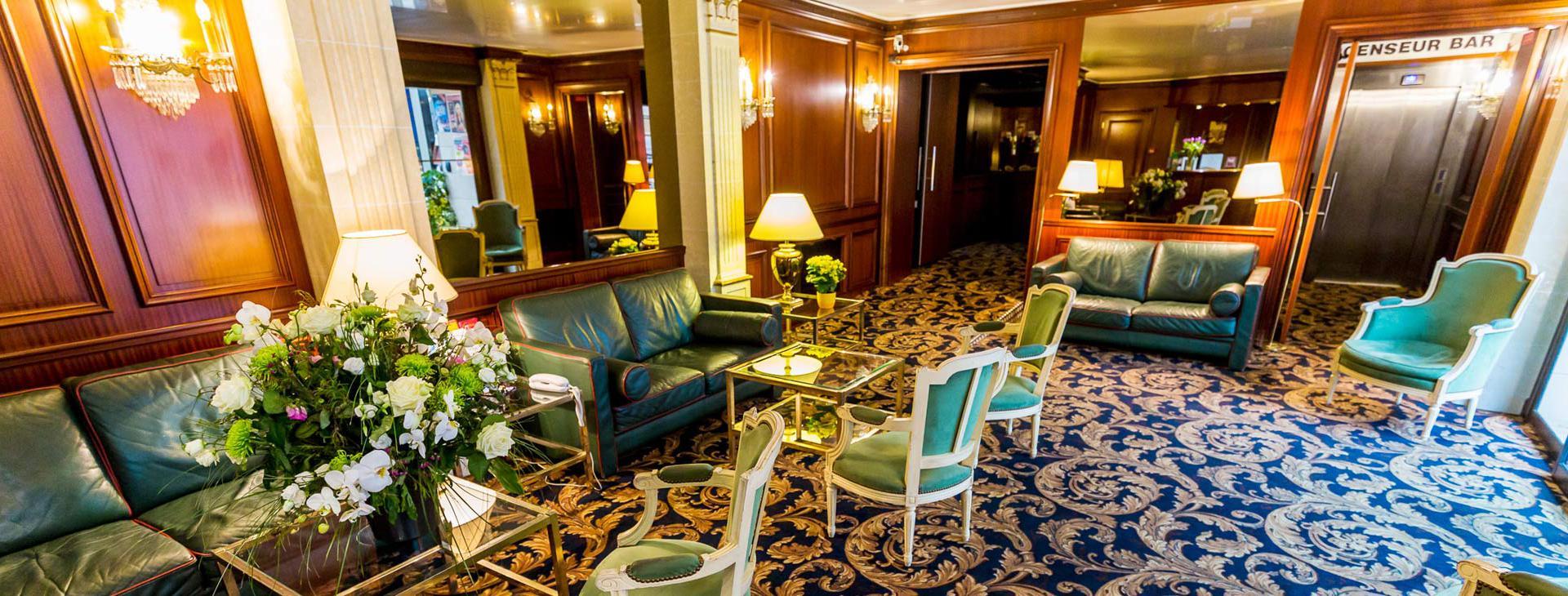 Hotel d'Irlande 3 étoiles Lourdes salon anglais